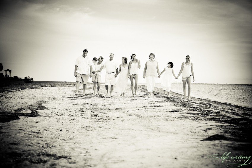 Black And White Family Beach Pictures